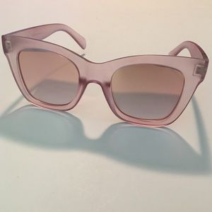 Quay After Hours Pink Mirrored Sunglasses